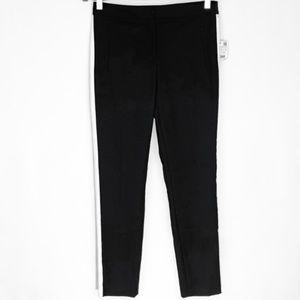 ZARA black side stripe croppedankle pants     NWT!